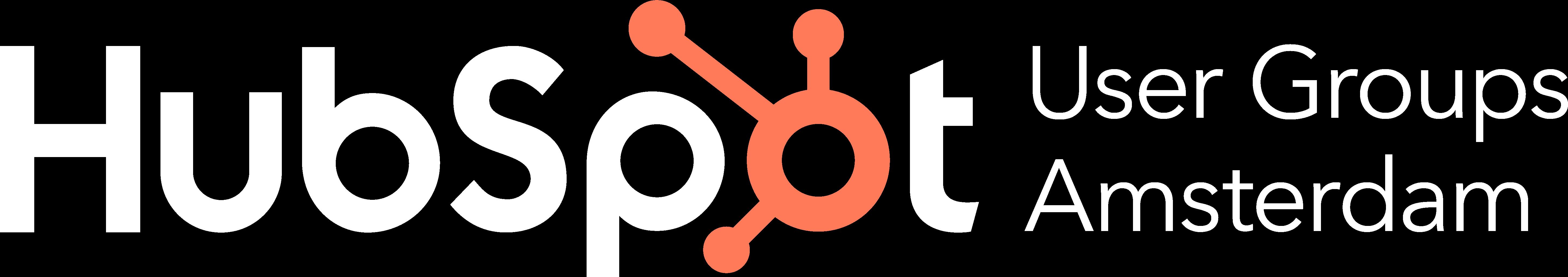 HubSpot_User_Group_Amsterdam logo wit